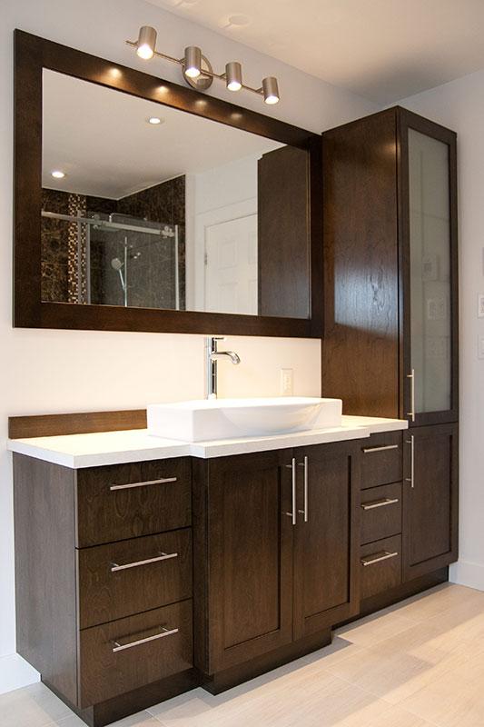 B niste rive sud de montr al fabrication de meubles et armoires - Lingerie salle de bain ...